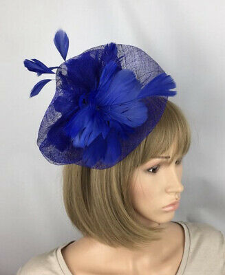 Blue Fascinator Hatinator Ladies Day Ascot Races Mother Of The Bride Wedding