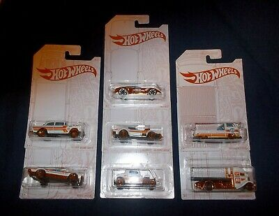 2020 Hot Wheels Pearl & Chrome Set With Chase 55 Gasser Vwt2 Pickup  7 Car Set