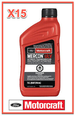 15 Quarts Auto. Trans. Fluid Genuine FORD Motorcraft XT12QULV MERCON ULV