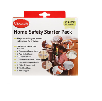 Clippasafe Home Safety Uk Starter Pack, 22 Piece, Baby/toddler Childproofing