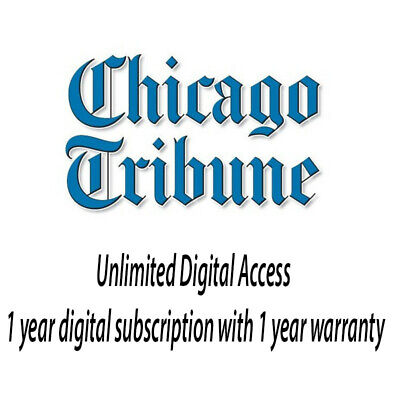 Chicago Tribune 1 year unlimited digital subscription with 1 year warranty