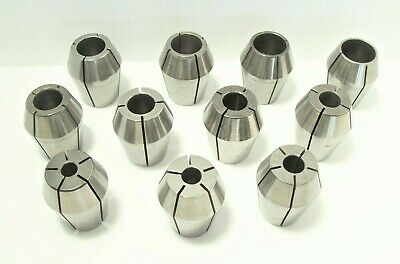 "UNIVERSAL ENGINEERING ZZ COLLET SET 11 pc set 3/8 - 1"" BY 16ths FREE SHIP IN USA"