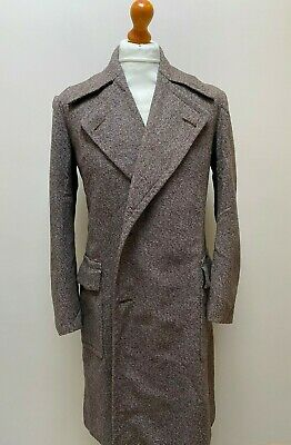 Vintage 1930's tweed double breasted overcoat size 42