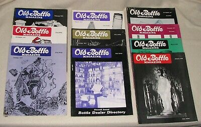 Lot Of 10 Different Old Bottle Magazines 1977 - 78