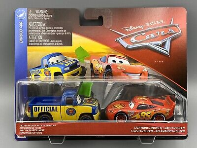 DISNEY PIXAR CARS DEXTER HOOVER GREEN FLAG EYES CHANGE NS SAVE 6/% GMC