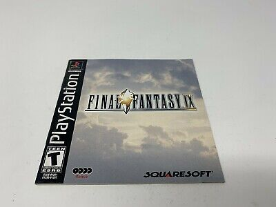 Final Fantasy IX 9 - PS1 Playstation 1 PS One - Instruction Manual Only