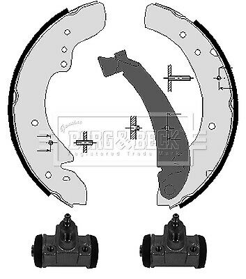 FIAT DUCATO 230 2.5D Brake Shoes Rear 94 to 02 Set B&B Top Quality Replacement