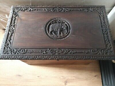 Antique Vintage Wooden Chest /Trunk / Wooden Blanket Box