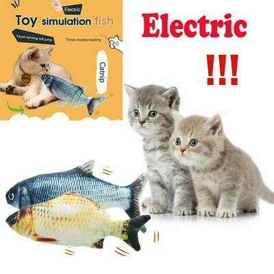 Cat Electric Wagging Fish Realistic Plush Simulation Doll Fish Cat Playing Toys