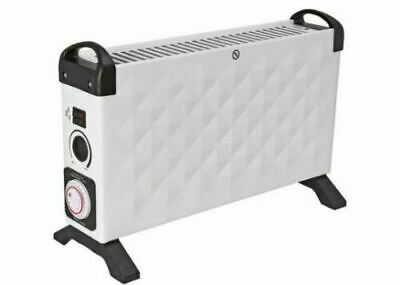 Challenge 2 KW Diamond Electric Convector Heater 24hr Timer H34.5 W52.5 D20cm