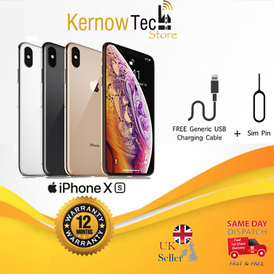 Apple iPhone XS - 64GB/256GB/512GB - UNLOCKED SIM Free Smartphone All Colours