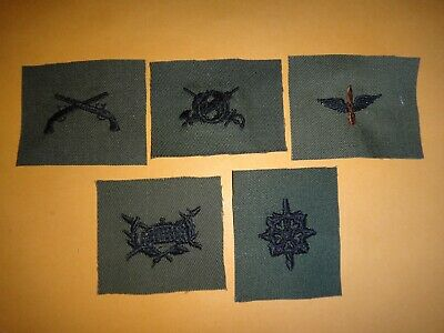 5 US Army Corps-Level Subdued Collar Devices Patches *Never Worn*