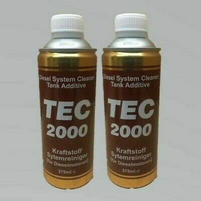 2 X TEC 2000 Powerful Diesel Injector & Fuel System Cleaner Tank Additive