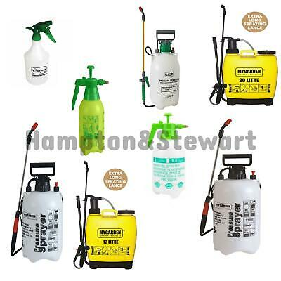 Pressure Sprayer 1.5,2,5,8,12,20 Litre Bottle Knapsack Weed Killer Garden UK