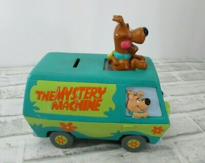 Vtg 1999 Scooby Doo The Mystery Machine Van Car Bus Plastic Coin Piggy Bank