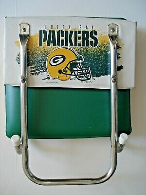 Vtg 1970s Green Bay Packers Padded Folding Stadium Seat 25 00 Picclick
