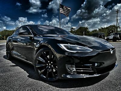 BLACK TESLA MODEL S DUAL MOTOR NEW A3 CANVAS GICLEE ART PRINT POSTER