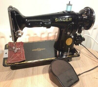 Vintage Singer 201K2 Electric POTTED MOTOR sewing machine FOR LEATHER