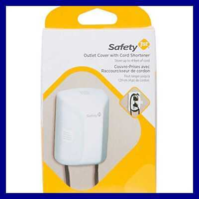 Outlet Cover W Cord Shortener For Baby Proofing Pack Of 1 FREE SHIPPING WHITE
