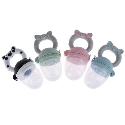 1Pc Teether silicone pacifier fruit feeder food nibbler feeder for b EH