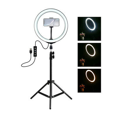 3 Mode Dimmable LED Selfie Ring Light Kit Studio Photography Video With Tripod