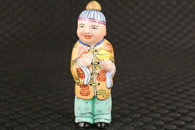 chinese old porcelain hand painting king man snuff bottle