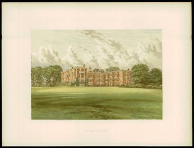 Meynell Ingram Leeds 1890 old antique print TEMPLE NEWSAM Yorkshire