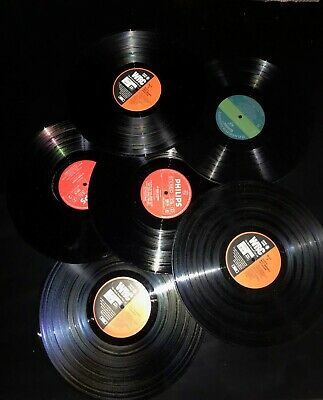 Job lot 10 x 12 inch LP vinyl records for craft and projects