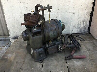 Antique Engine Rare Tiny Tim 6 volt Charger Generator 1940′s Hit Miss Military