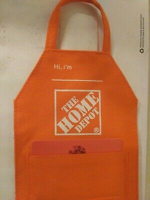 ONE Home Depot Apron Gift Card Holder..miniature apron