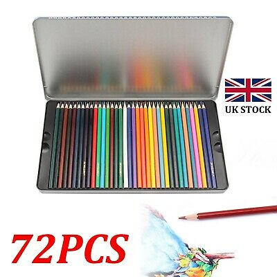 72X Pro Artist Drawing Pencils Colouring School Watercolors Pencil Sketching Set