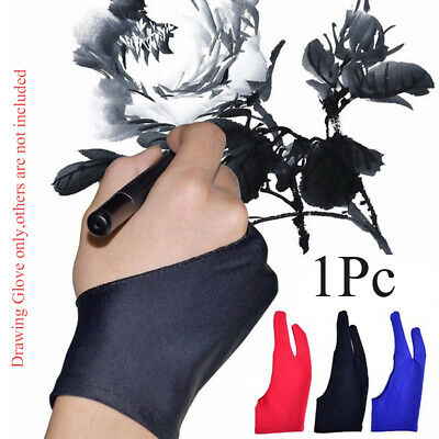 Anti-fouling Two Finger Painting Supply Graphics Tablet Drawing Glove Mittens