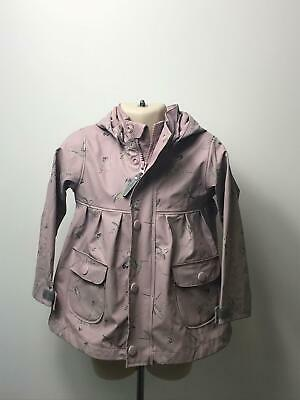 Girls Mini A Ture Rose Pink Lightweight Rain Coat Mac Jacket Kids Age 2 Years