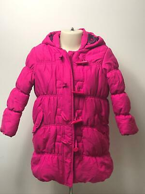 Girls John Lewis Pink Hooded Padded Quilted Duffel Coat Jacket Kids Age 5 Years