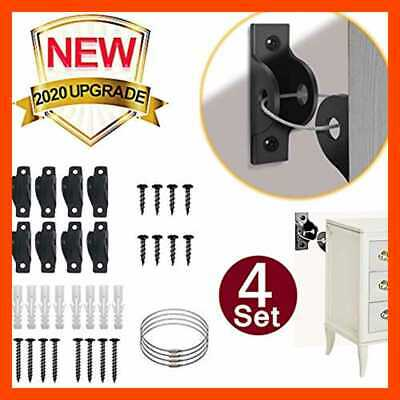 Furniture Straps For Baby Proofing Metal Child Anchors 4 Pack Secure 400 LB Fall
