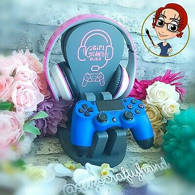 Xbox/PS3/PS4 Girl Gamer Headset & Controller Stand/Holder, Gaming Merch,