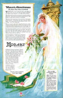 Modart Corsets Bride HENRY E VALLELY Power That Moves The World 1918 Print Ad