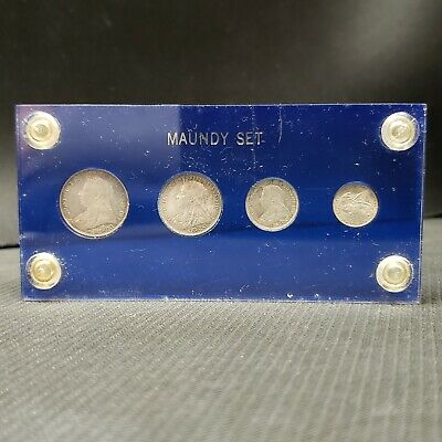Great Britain 1897 Maundy Set in Capitol Plastic Holder