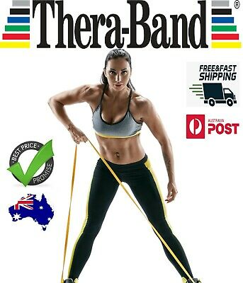 Genuine THERABAND Exercise Band Resistance 1.5m Thera Bands Yoga FREE SHIPPING