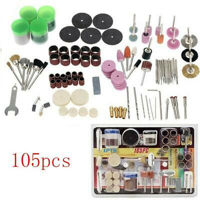 105Pcs Mini Electric Drill Grinder Rotary Tool Grinding Polishing Accessory Set.