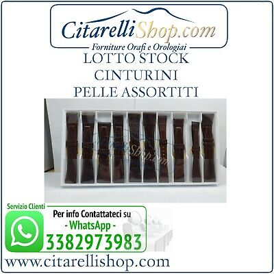 Lotto Stock 10 Cinturini In Vera Pelle Assortiti