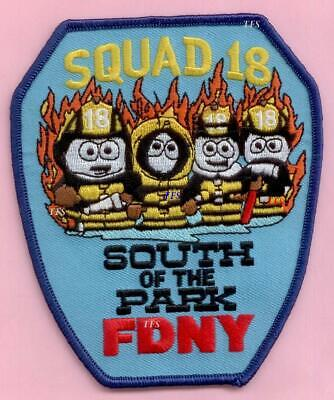 South Of The Park New York City Fire Dept Squad 18 Patch