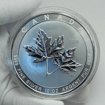 2018 CANADA Large - 10 OZ Queen Elizabeth II Silver Maple Leaves $50 Coin i78502
