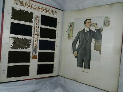 Vintage Haas Tailoring Company Fall & Winter Catalog, 1915-16, w/ Fabric swatche