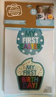 *ABG Baby Holiday Milestone Belly Stickers Photo Prop Photography Easter