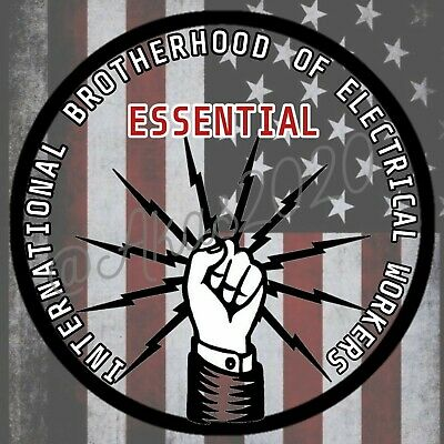 2020 IBEW Essential Hard Hat Sticker Union