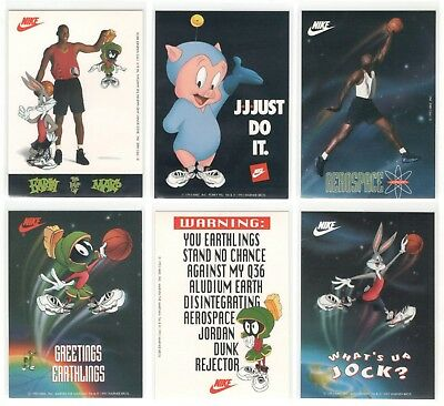 Rare MICHAEL JORDAN 1993 Nike Air Jordan Looney Tunes Sticker Set (12) Space Jam