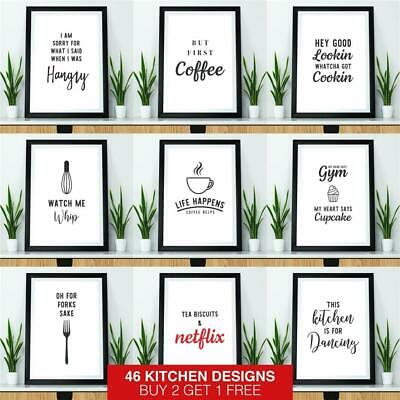 Kitchen Prints Framed Wall Art for Kitchen Funny Quote Prints Dining Room Poster