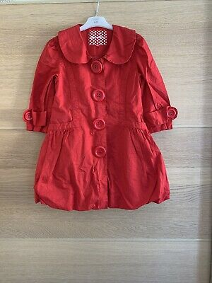 New Look Girls Red Coat Age 9 Years Great Condition❤️3/4 Sleeves