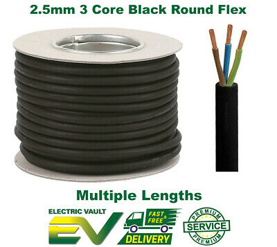 Rubber Cable 3 Core 2.5Mm Ho7Rn-F Heavy Duty Garden Pond Outdoor Site Extension